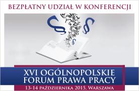 Seka XVI Forum Prawa Pracy 2015 banner statyk